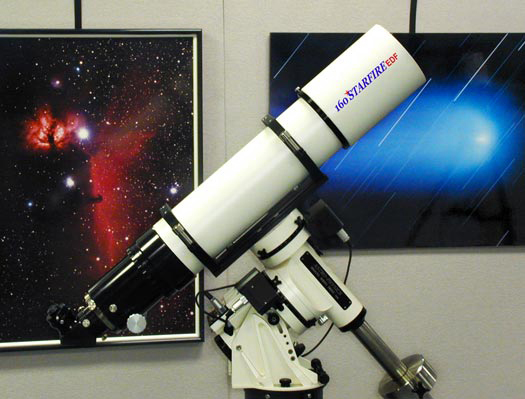 Astro-Physics 160 EDF Telescope on Model 900 GTO mount (103,954 bytes)
