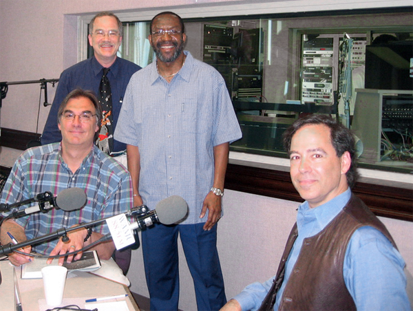 Goeff, Laird, Kojo and Martin in studio (259 kbytes)