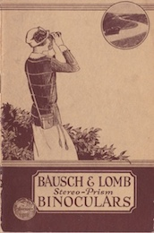 Bausch & Lomb Stereo-Prism Binoculars, catalog of 1923