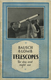 Bausch & Lomb Telescopes: for day and night use, catalog of 1929