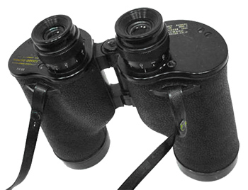 Hayward U.S. Navy Mark 45 binocular, of Company Seven's collection (146,476 bytes)