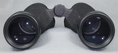 objectives end view of U.S. Navy SARD 7x50 Mark XLIV Mod. 0 binocular (110,732 bytes)