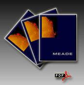 Meade 2002 Catalog cover and pdf logo