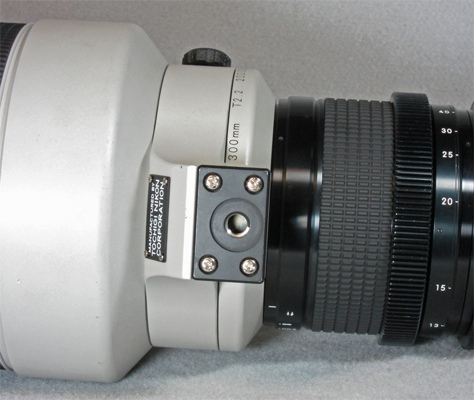 Tochigi Nikon 300mm T2.2 lens foot (41,547 bytes)