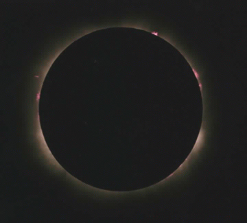 One of Bill Chandler's photographs of the eclipse - totality