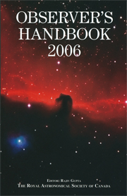 cover of Observers Handbook 2006 issue