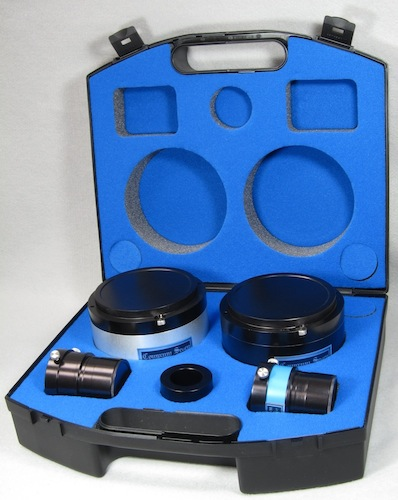 Solarscope DSF-100 filter set as provided in its case (63,268 bytes)