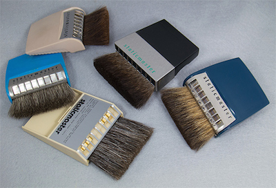 assorted 3 inch brushes made since 1952, in Company Seven's collection (51,277 bytes)
