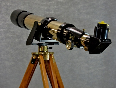 Renaissance 101 brass telescope as displayed at Company Seven (56,860 bytes)