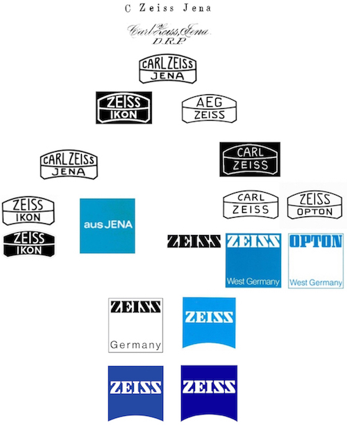 Zeiss companies logos, from articles in the collection of Company Seven (114,610 bytes bytes)